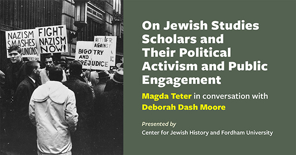 On Jewish Studies Scholars and Their Political Activism and Public Engagement